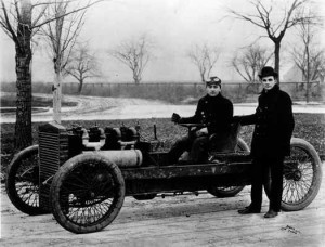 Barney Oldfield y Henry Ford